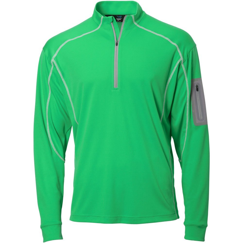 TGW Mens Tour 1/4 Zip Pullover Green S