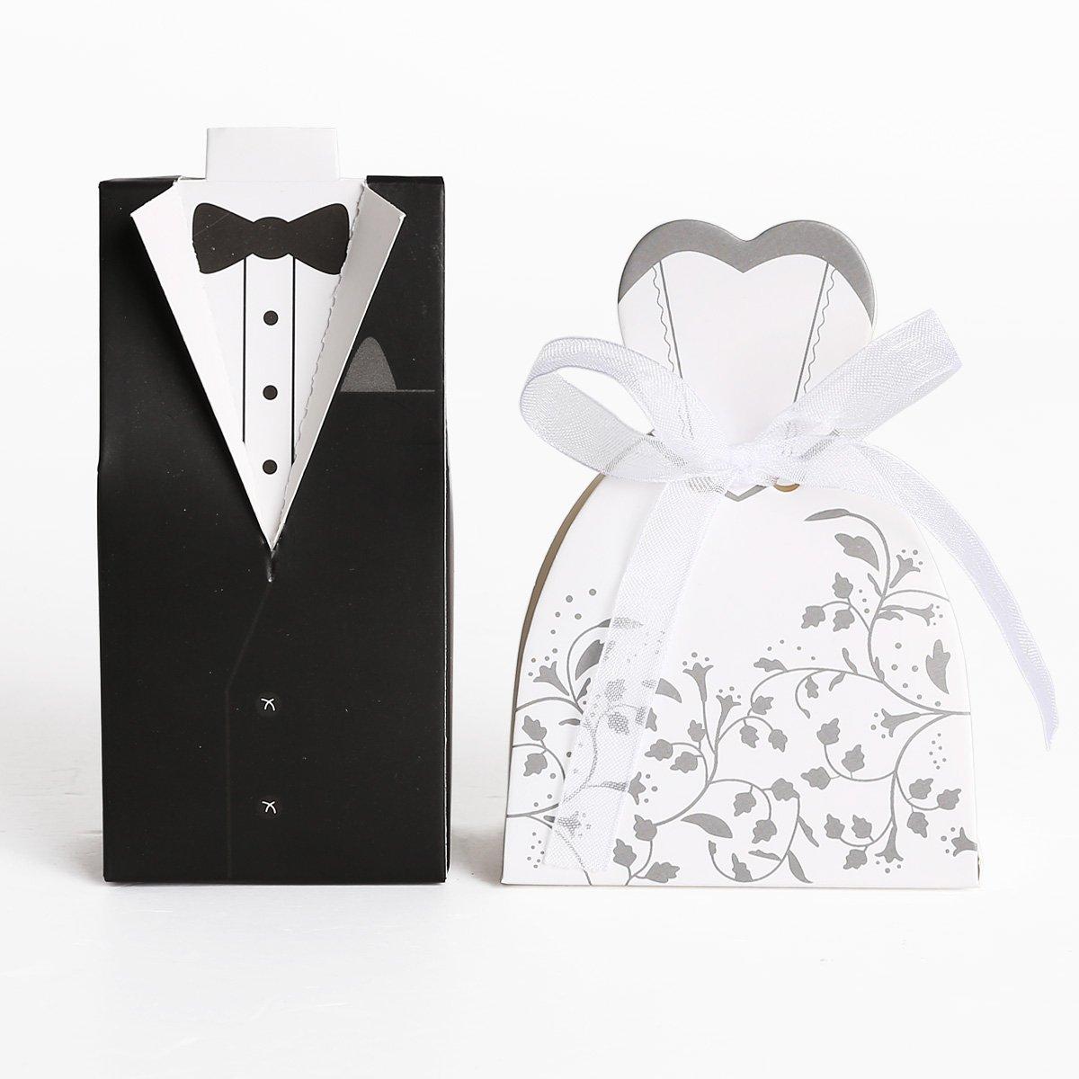Set de 200 cajitas de boda dulces regalos?? bombones con Forma Traje ...