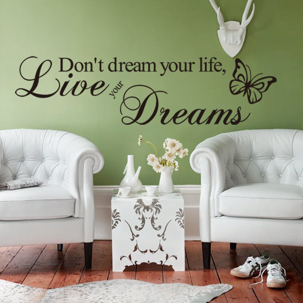 Amazon Dont Dream Your Life Live Your Dreams Quotes Wall Decal