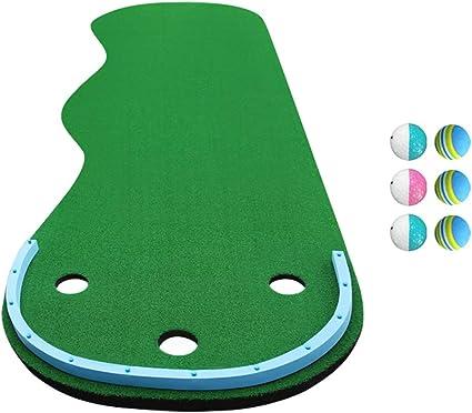 QianDa Alfombras Putting Golf Forma Ondulada Colchoneta Inclinada ...