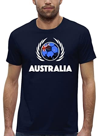 ShirtStreet Australia Fussball WM Premium Fan Herren T-Shirt Bio ...