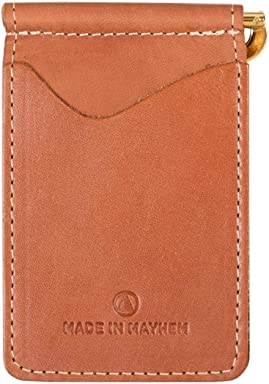 593fcfff5de Made in Mayhem Madison Genuine Leather money clip wallet Slim wallet made  in USA - Copper