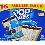 Pop-Tarts Frosted Blueberry Toaster Pastries (1 Pack) 29.3 OZ