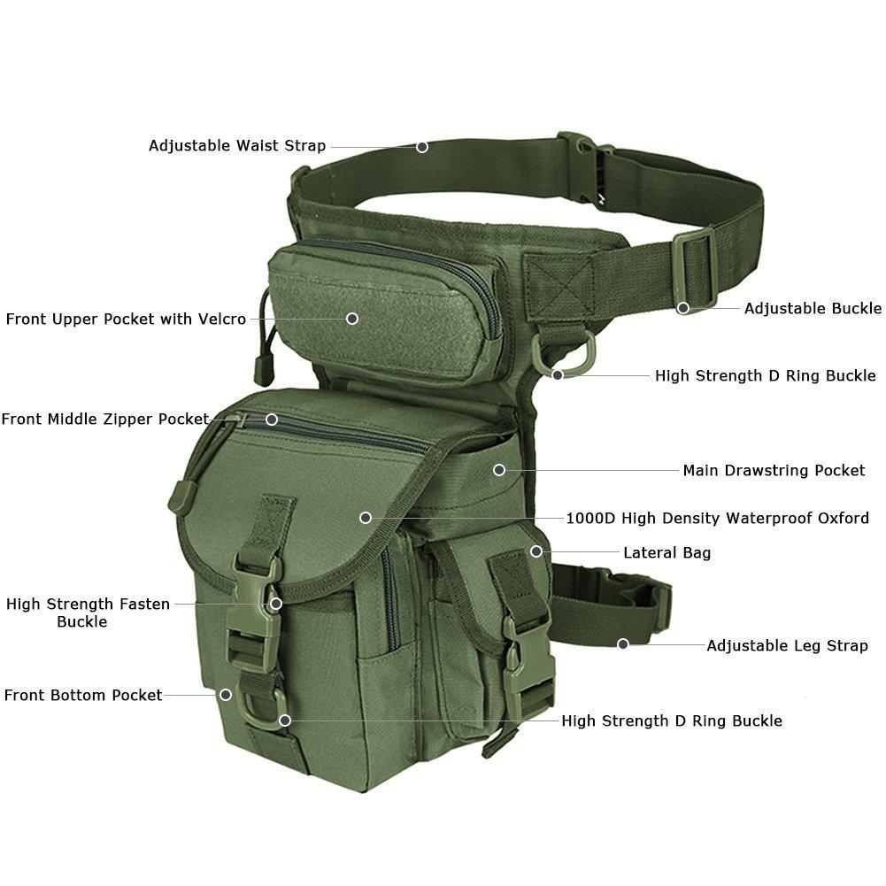 id/éal pour Paintball vert militaire Airsoft moto Sac de jambe militaire tactique Thermite Versipack