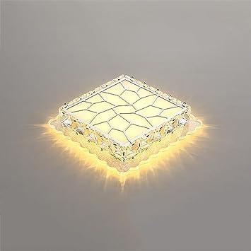 Luz de techo ZHAOJING Lámpara de Techo de Cristal Llevado ...