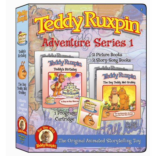 Teddy Ruxpin Series 1 Teddy's Birthday & Teddy Met Grubby Program Cartridge (Teddy Ruxpin Grubby)