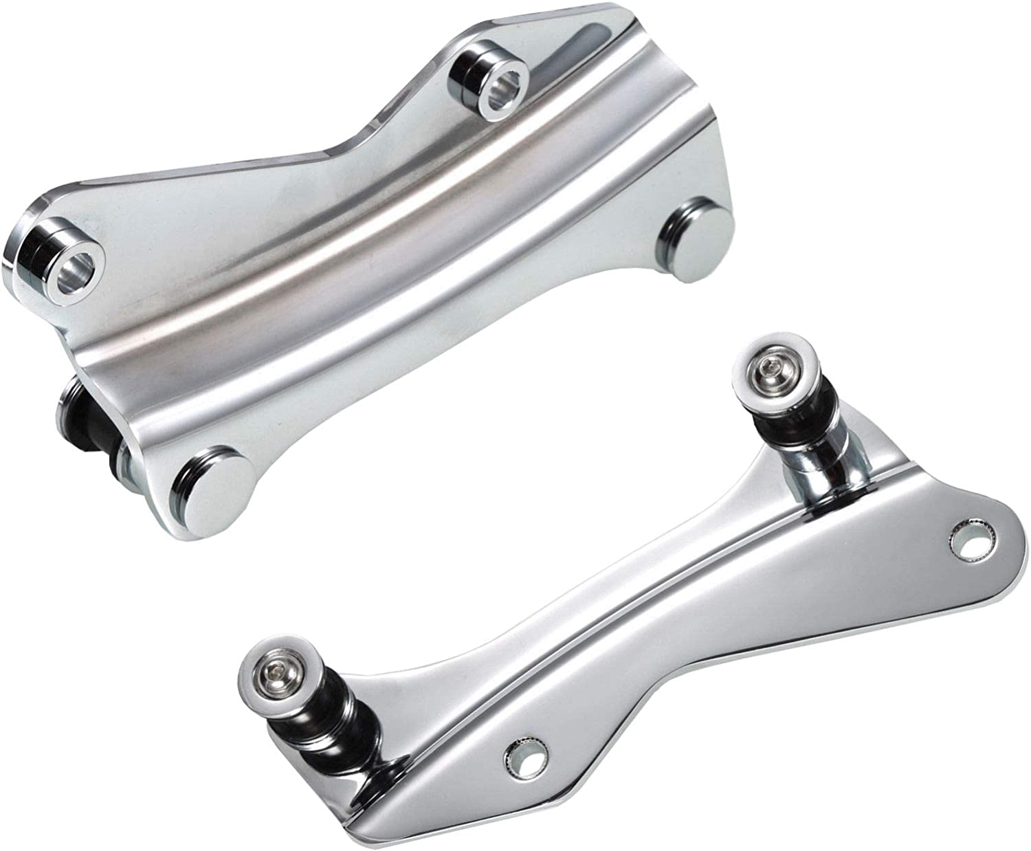 Chrome 4 Point Docking Bracket Mount Hardware For 2014-2020 Harley Davidson Touring Street Glide Road King Electra Glide