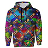 Qbeir Squid Men's Adult Print Hoodies Cozy Drawstring Pockets Pullover Hooded Sweatshirt Prime Exclusive