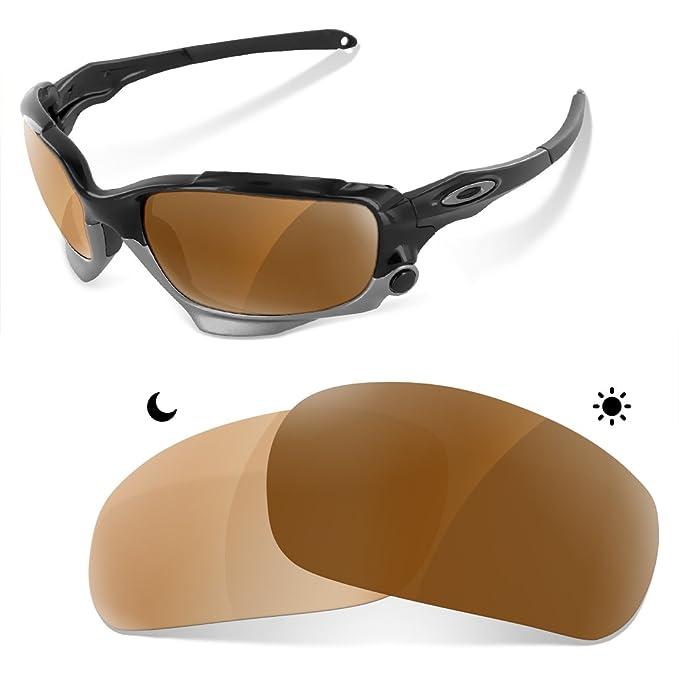 sunglasses restorer Lentes Fotocromaticas Polarizadas Marron 30-45% de Recambio para Oakley Racing Jacket