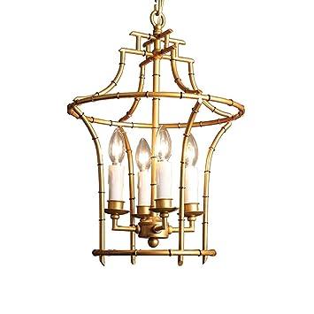 YISHUAIDMZ Lámpara Colgante Retro Vintage Lámpara Colgante Luz ...