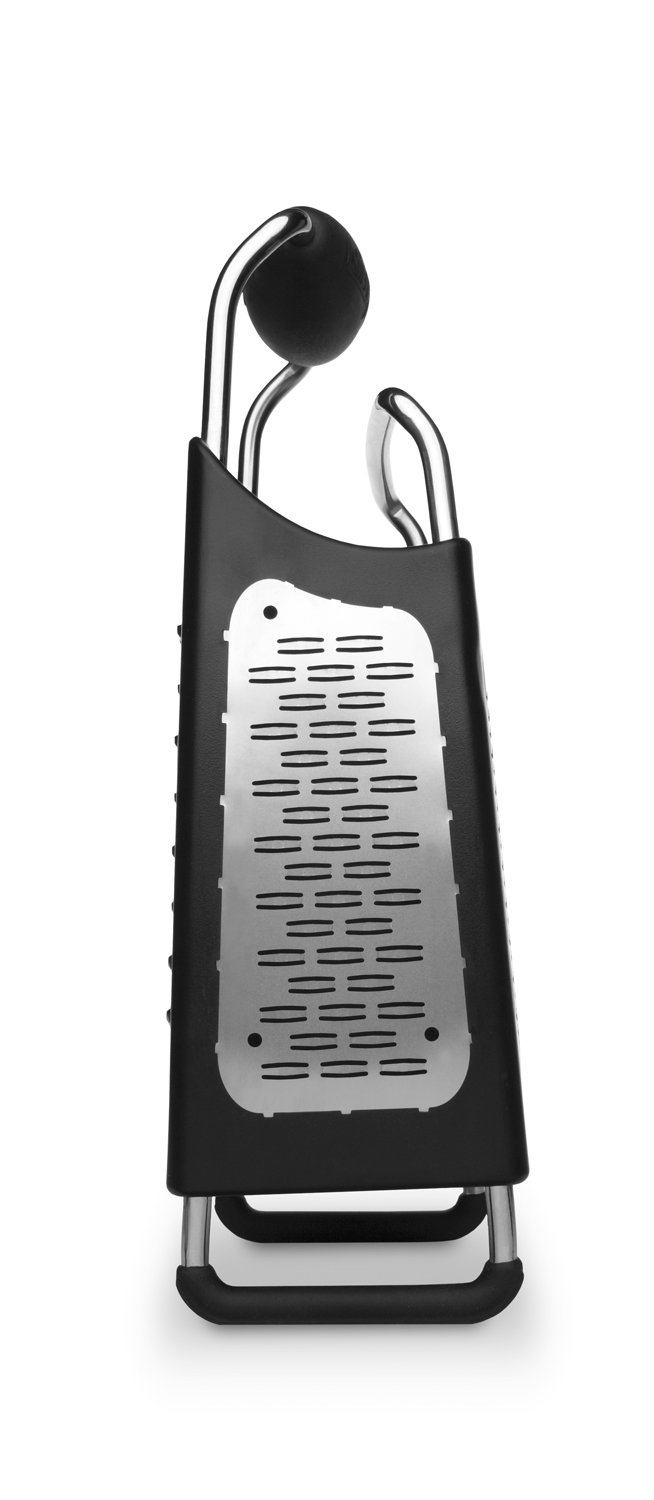 Black 34006 Microplane Box Grater Large 10 inch 4-Sided Stainless Steel Ultra-Sharp Multi-Purpose Grater