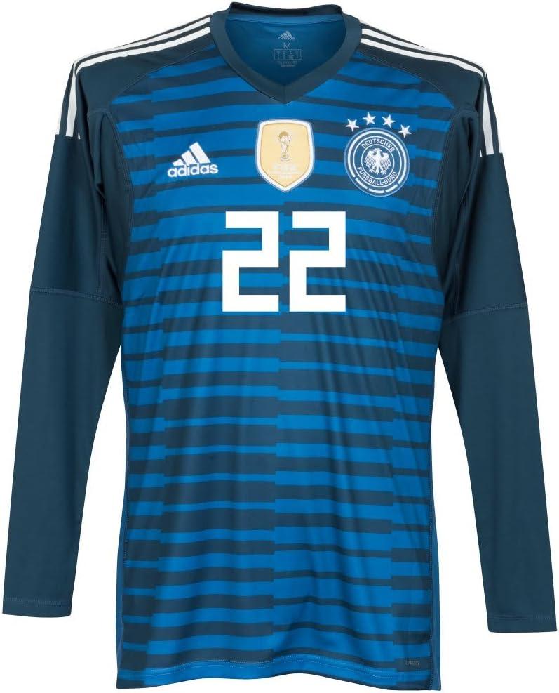 Player Print - adidas Performance Alemania Casa TER Stegen 22 GK Camiseta 2018 2019 (Oficial de impresión), Unisex, Azul: Amazon.es: Deportes y aire libre