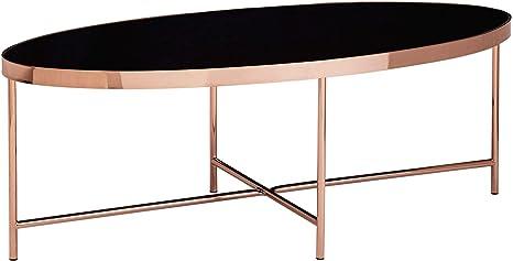 Finebuy Design Couchtisch Oval 110 X 56 Cm Spiegel Glas Wohnzimmertisch Mit Metallgestell In Kupfer Glastisch Wohnzimmer Amazon De Kuche Haushalt