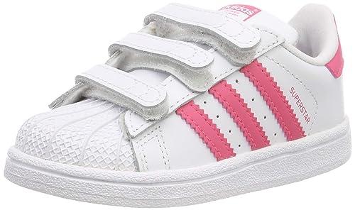 0b6f7052e adidas Superstar CF I, Sneaker Unisex Bimbo, Bianco Ftwr White Clear Pink,  19