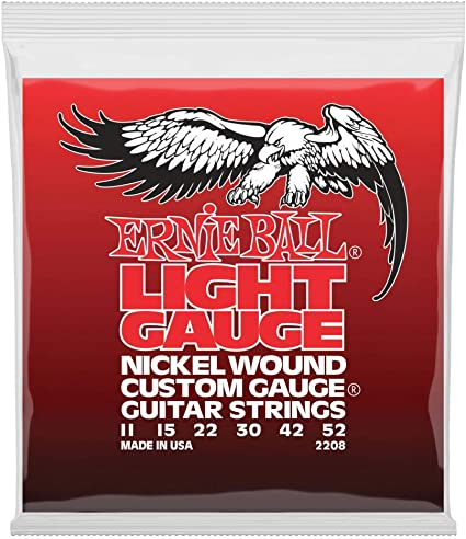 Ernie Ball Light Nickel Wound w/wound G Cuerdas para guitarra ...
