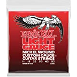 Ernie Ball P02208 Light Nickel Wound with Wound G Electric Guitar Strings, 11-52 Gauge, Light