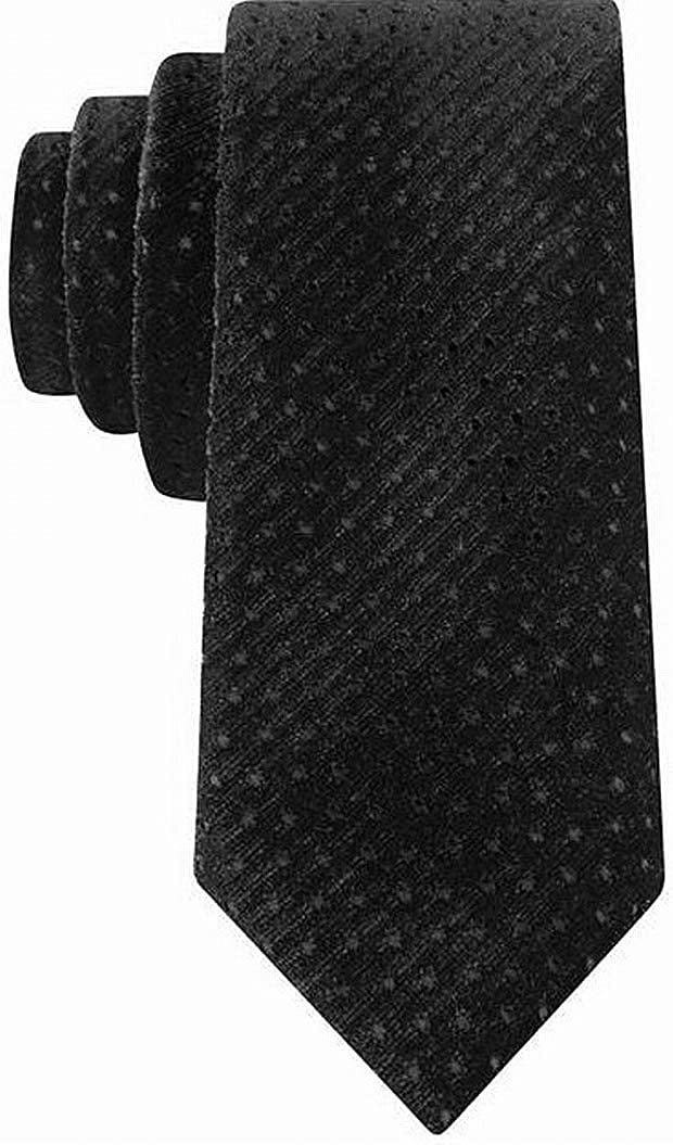 Sean John Mens Velvet Polka Dot Neck Tie