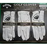 Callaway Cabretta Leather 3 PK Golf Gloves (Extra Large)