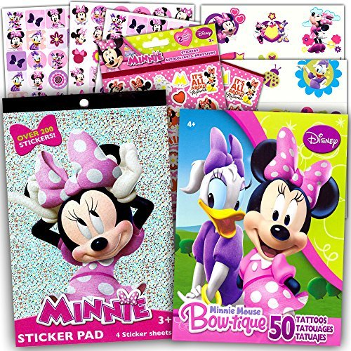(Minnie Mouse Stickers & Tattoos Party Favor Pack (200 Stickers & 50 Temporary)