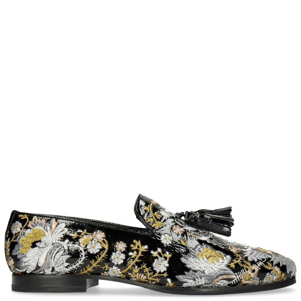 MELVIN & HAMILTON MH HAND MADE Schuhe Soft OF CLASS Clive 6 Soft Schuhe Patent Oriental Embrodery Multi 40 b08c62