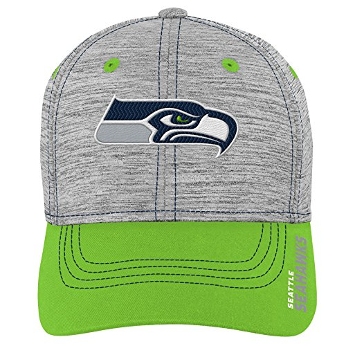 - NFL by Outerstuff NFL Seattle Seahawks Youth Boys Velocity Structured Flex Hat Heather Grey, Youth One Size