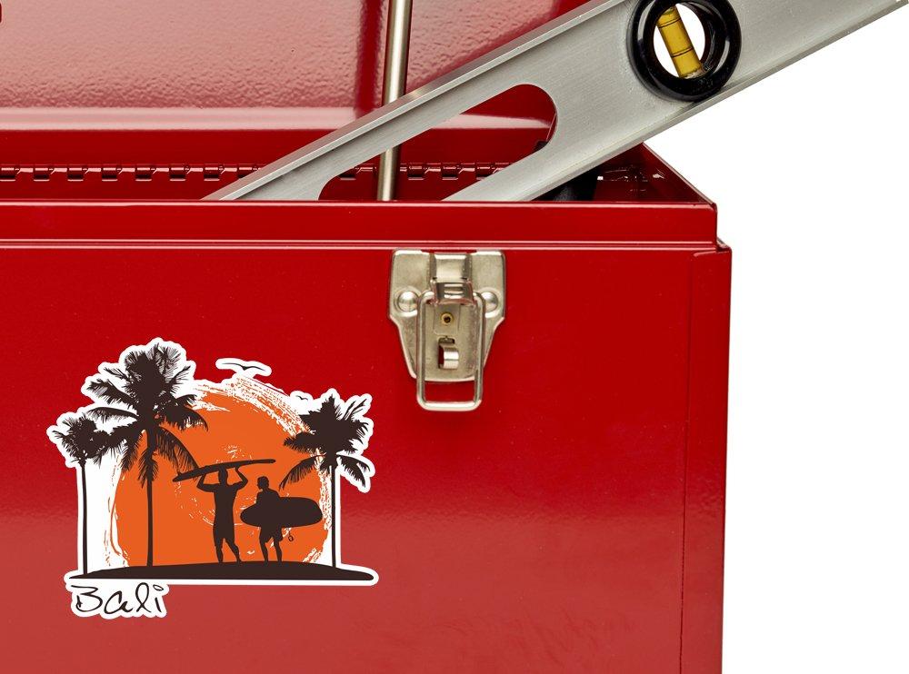 2 x Bali Surfing Vinyl Stickers Travel Luggage #10513