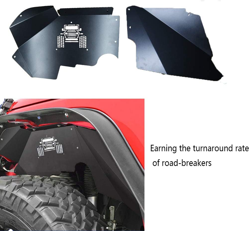 car auto parts Jeep Front Inner Fender Liners Aluminum Alloy for 2007-2017 Wrangler