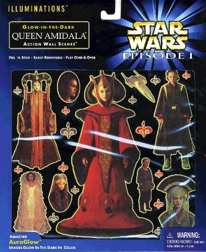 Star Wars Episode 1 Glow-in-The-Dark Queen Amidala Action Wall Scenes]()
