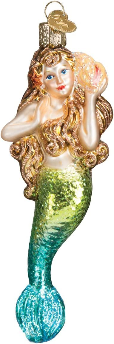 Old World Christmas Mermaid Sea and Water Animals Glass Blown Ornaments for Christmas Tree
