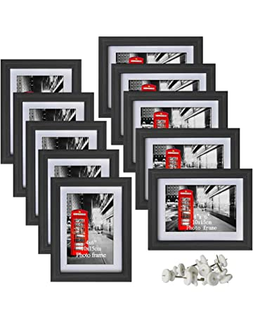 ae6cd3cf0345 Amazing Roo Black Picture Frames with Mat for Wall or Table Top Decoration  (4x6