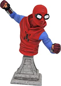 DIAMOND SELECT TOYS Marvel Spider-Man Homecoming: Spider-Man (Homemade Costume Version) Resin Figure Bust