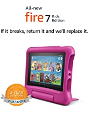 """All-New Fire 7 Kids Edition Tablet, 7"""" Display, 16 GB, Pink Kid-Proof Case"""