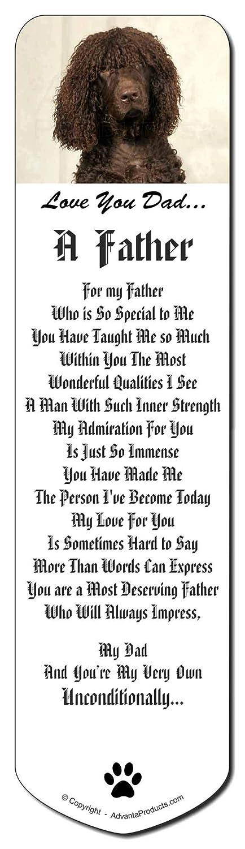 Irish Water Spaniel 'Love You You You Dad' Marcador, regalo de Navidad relleno marca de 4ffa0a