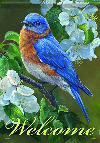 Carson Home Accents Flagtrends Classic Garden Flag, Welcome Bluebird ()
