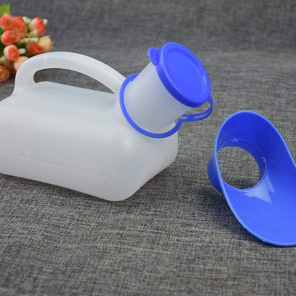 acampada unisex mujeres 1000 ml Botella de orina para hombres botella de urinario de viaje port/átil urinario con asa de transporte para acampar al aire libre ba/ño de emergencia orinal