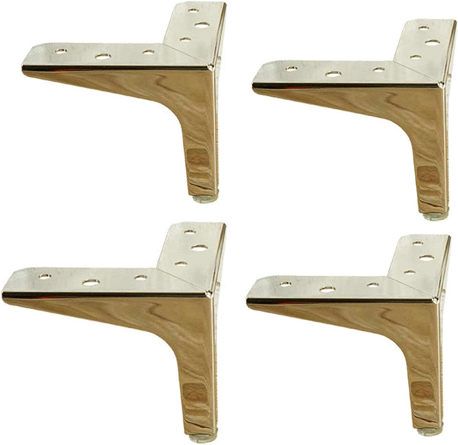 FBBSZSD Sofa Legs Metal Furniture DIY Table Legs Cabinet Feet Metal Furniture Feet for Coffee Table, Dining Table, Designer Desk, Bedside Table, Chairs, Cabinet and Sofa Set of 4,Gold,13cm