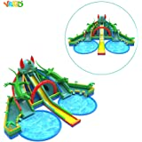YARD Commercial Grade Amusement Park Combo Design Inflatable Water Slide with Double Pool For Adults