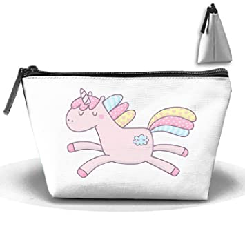 84e000c6aa09 Amazon.com : Cute Jump Unicorn Multi-functional Trapezoidal Storage ...