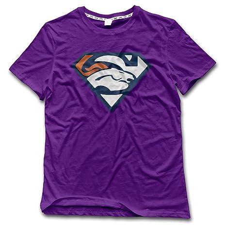 17030a76086 Denver Broncos Football Team Superman Logo T-shirts XXX-Large Purple For Man