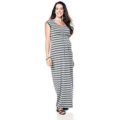 2c699bc6bfa Oh Baby by Motherhood Striped Maxi Dress Maternity at Amazon Women s ...