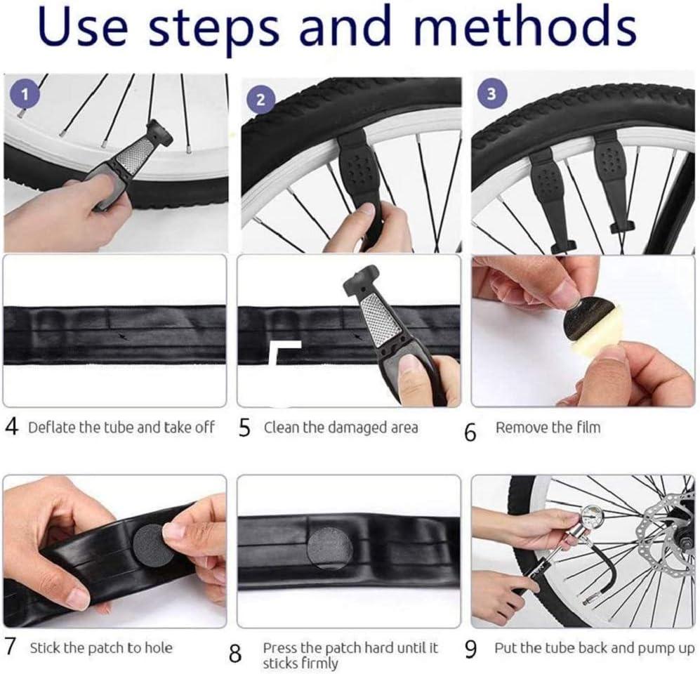 Tragbare Tasche Reifen Hebel mit Kette Breaker CYCEARTH Fahrrad Reifen Reparatur Tool Kit mit 210 Psi Mini Pumpe Knochen Schl/üssel Glueless Reifen Patchs 11-in-1 Multi-Tool Reifen Patch