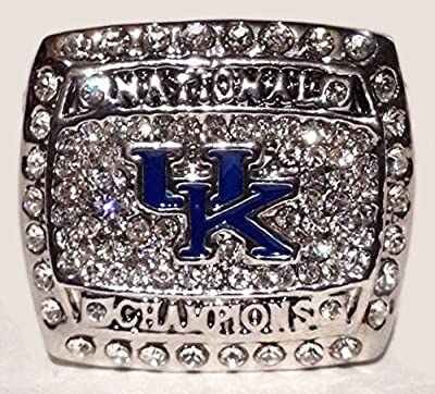 Kentucky Wildcats 2012 Championship Ring Replica - Wildcats College Basketball Memorabilia NCAA March Madness National Champions - Mens Size 11 Shipped from USA