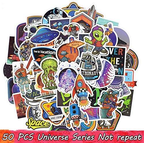 50 Pcs Universo Pegatina Juguetes para Niños Aviación Ovni Alien Spaceship Ciencia Pegatinas Creativas A Scrapbooking Laptop Equipaje: Amazon.es: Electrónica