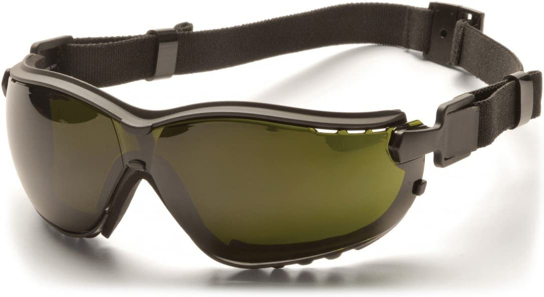 Pyramex V2G Safety Glasses with Adjustable Strap Pyramex Safety Products Black Frame//3.0 IR Filter Lens GB1860SFT