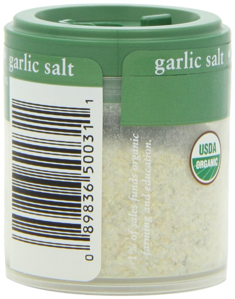 Simply Organic Garlic Salt Certified Organic, 1.06-Ounce Containers (Pack of 6)