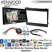 Volunteer Audio Kenwood DNX574S Double Din Radio Install Kit with GPS Navigation Apple CarPlay Android Auto Fits 2004-2006 Pontiac GTO
