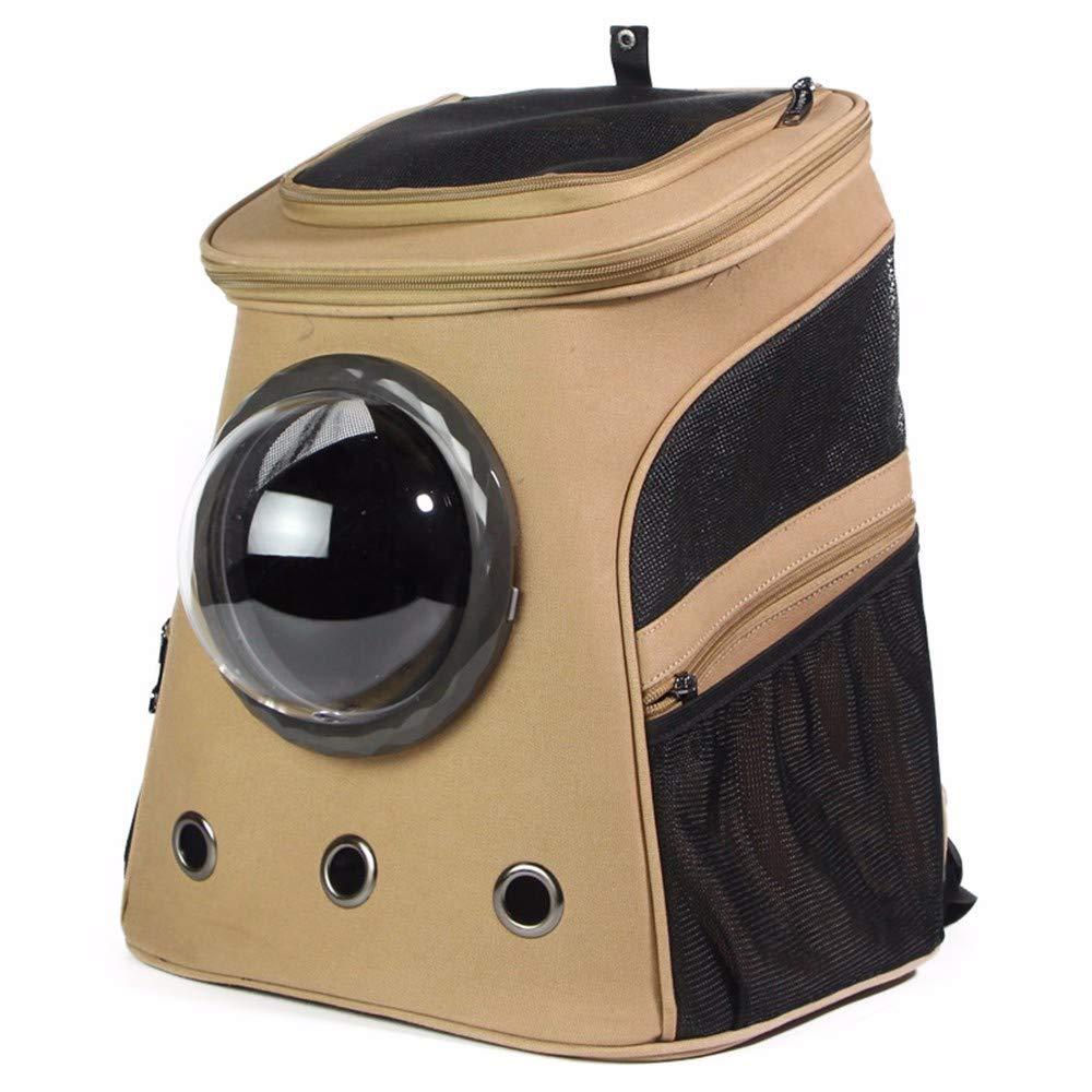 Khaki Luuruu Pet Carrier Backpack Carrier Pet Backpack,Breathable Dog Backpack Portable Shoulder for Traveling Hiking Camping Increase Space Bag, Khaki