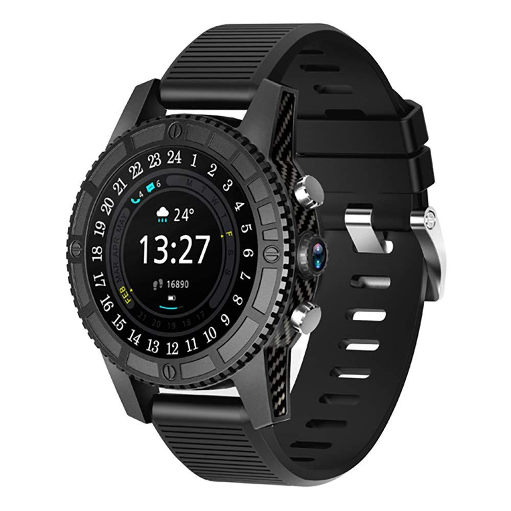 RedBrowm Smart Watch for Women Men with Bluetooth and WiFi,Color screensmart,Activity Tracker and Sleep Monitor,4G Smart Watch AMOLED Round Screen 1+16GB Android 7.0 Heart Rate Monitor IP67