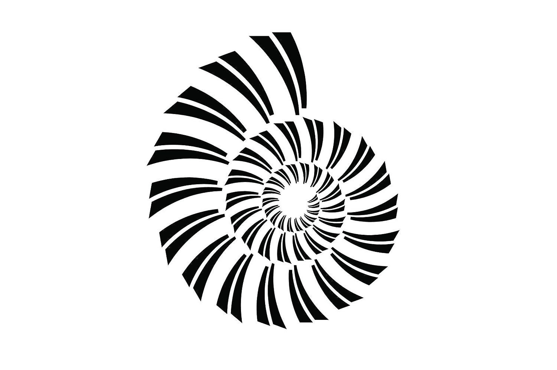 抽象スパイラルv1幾何形状ビニールデカール壁、車、PC - - - - - - - 50 inch ブルー CC-105470k B07B8BH6X2 50 inch|スカイブルー スカイブルー 50 inch