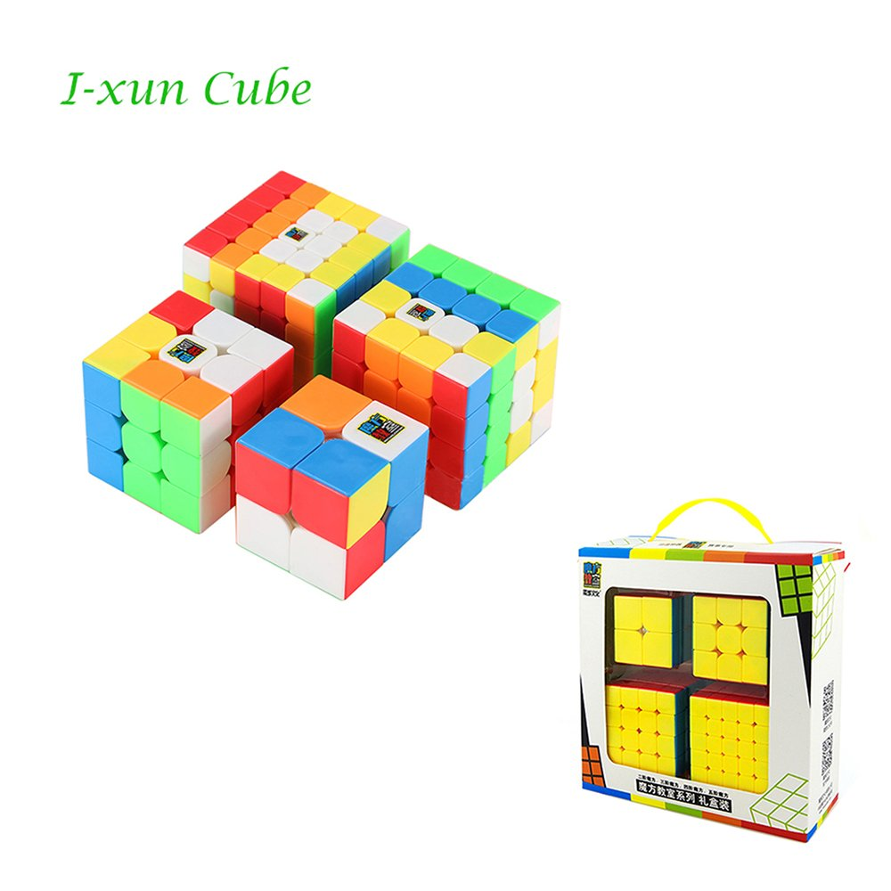 I-xun 2018 New Speed Magic Cube Set, MoYu MFS Puzzle Cube Gift Package (4 Pack)